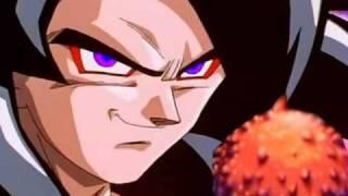 Ssj4 Turles vs Goku and Trunks