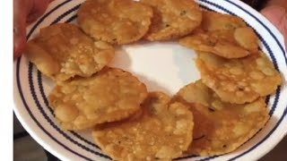 Pappu Chekkalu / Rice Crackers / Andhra Snack - By Sritha's Kitchen