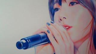 getlinkyoutube.com-박기철님그림♥Drawing 태연 팬아트 taeyeon