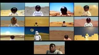 "getlinkyoutube.com-12 LEGO ""Star Wars: The Force Awakens"" teaser trailers (split screen)"