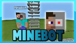 หุ่นยนต์ - สร้างสิ่งต่างๆ - แอป MineBot | Minecraft PE 0.13.1 (มายคราฟพีอี 0.13.1)