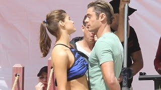 getlinkyoutube.com-Alexandra Daddario and Zac Efron get flirty