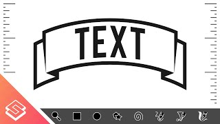 getlinkyoutube.com-Inkscape Tutorial: Create a Curved Ribbon with Text