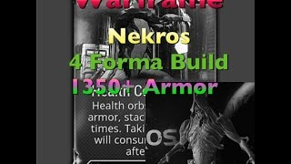 getlinkyoutube.com-Warframe [Nekros Tank Build Over 1350 Armor] Savage Build 2016