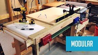 getlinkyoutube.com-Modular Mobile Table Saw Station