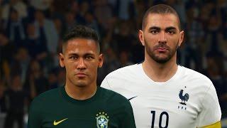getlinkyoutube.com-PES 2016 - GAMEPLAY NEYMAR vs BENZEMA - GOLS na ARENA CORINTHIANS (Brasil vs França)
