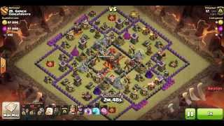 getlinkyoutube.com-이불킥 Th10 Attack Strategy | AQ Walk LaLoon by 단비 (232-28) Square base