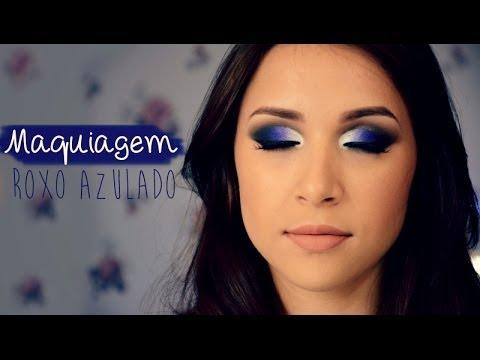 Tutorial de Maquiagem - Roxo Azulado | Noite