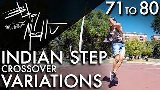 Breakdance Toprock tutorial • 80/100 Indian Step Crossover Variations • Bboy MeditRock width=