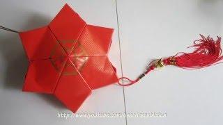 CNY TUTORIAL NO. 32 - Red Packet (Hongbao) Star Lantern  (怎么用新年红包做爆竹)