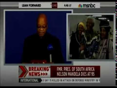 BREAKING NEWS: Nelson Mandela Dead Aged 95 OFFICIAL News Announcement President Jacob Zuma !