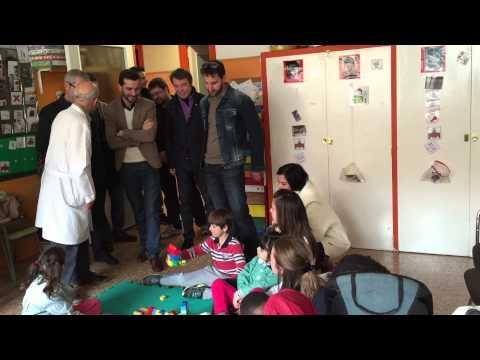 Visita del actor Dani Rovira al colegio