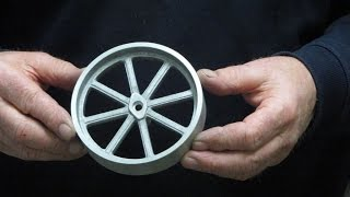 getlinkyoutube.com-Metal Casting at Home Part 63 Traction Engine Wheel Casting