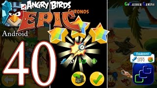 getlinkyoutube.com-ANGRY BIRDS Epic Android Walkthrough - Part 40 - Cave 1: Shaking Hall