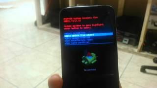 """getlinkyoutube.com-Moto G Hard Reset  """"no command"""" solution"""