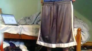 getlinkyoutube.com-Double sagging 2 pairs of Jordan basketball shorts + chelsea away kit