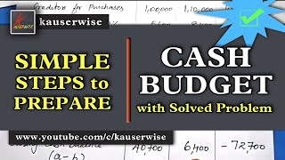getlinkyoutube.com-Cash Budget (with solved problem) in management accounting tutorial :-by kauserwise