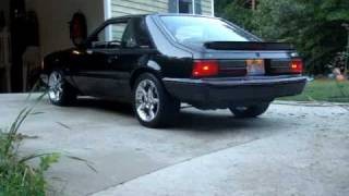 getlinkyoutube.com-1990 Ford mustang LX 5.0 with FRPP B303 and SLP LM1s dumped