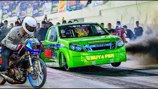 getlinkyoutube.com-⚡ MOTORCYCLE vs ISUZU DMAX ▶DRAG RACING