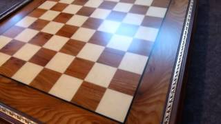 deluxe briar chessboard imported from italy- ancientchess.com