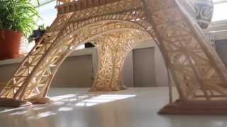 The Eiffel tower model of matches and stirrers