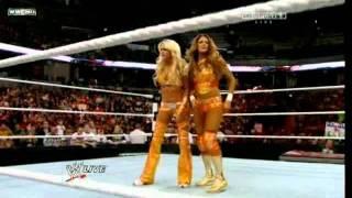 getlinkyoutube.com-Kelly Kelly & Eve Torres vs Bella Twins- WWE RAW 01/02/12