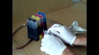 Testing for clogged ink line or ink tank on a CISS