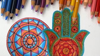 getlinkyoutube.com-Episode 3: How to Use Colored Pencils to Color Mandalas