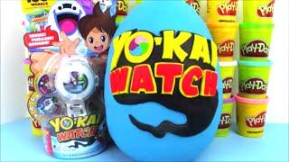 getlinkyoutube.com-Giant Yokai Watch Surprise Egg with Video Game Toys!