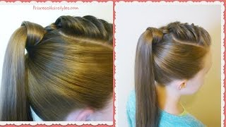 getlinkyoutube.com-The Best Hair Wrapped Ponytail, Easy Hairstyle Tutorial