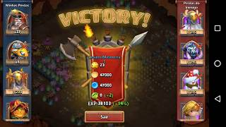 getlinkyoutube.com-Castle Clash Insane Dungeon 5 No Mino Mage 100%