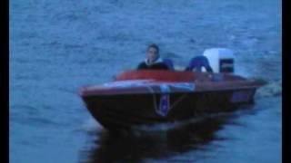 getlinkyoutube.com-Phantom 18ft 225PK Johnson powerboat test varen