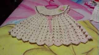 getlinkyoutube.com-Vestido para  bebe a ganchillo o crochet
