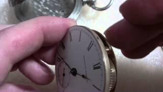 getlinkyoutube.com-How I repair rotating pocket watch movement in case, Waltham