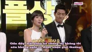 getlinkyoutube.com-[vietsub] Lee Boyoung, Lee SangYoon @Drama Award 2012