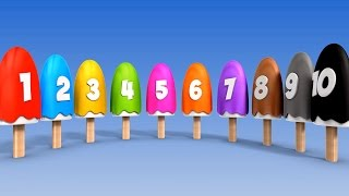 getlinkyoutube.com-Learn Numbers with Number Ice Cream Popsicles Song | Numbers Songs for Children