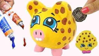 KOOKY COOKIE PIGGY BANK Shopkins Precious Paint DIY Craft Coins Kids Money Saving Project