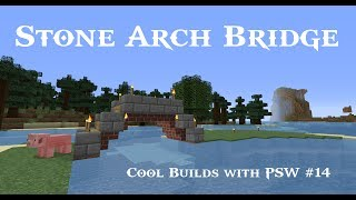 getlinkyoutube.com-Minecraft Simple Cobble Stone Arch Bridge Tutorial - Cool Builds with PSW Ep #14! (HD)
