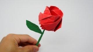 getlinkyoutube.com-Origami Rose (Jo Nakashima)