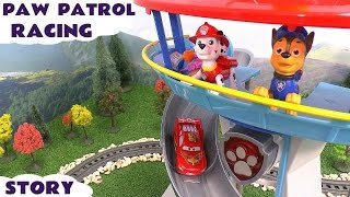getlinkyoutube.com-Paw Patrol Racing Cars Avengers Hot Wheels Thomas and Friends Lookout Hulk Iron Man Thor Toy Story
