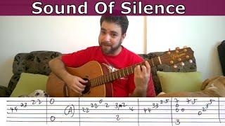 getlinkyoutube.com-Fingerstyle Tutorial: Sound of Silence - Guitar Lesson w/ TAB