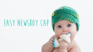 getlinkyoutube.com-CROCHET TUTORIAL - NEWSBOY CAP