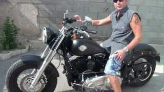 getlinkyoutube.com-Harley Davidson Softail Slim avant et après avoir installé le stage1.