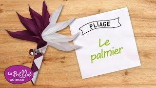 getlinkyoutube.com-Pliage de serviette en papier- Le palmier - Labelleadresse.com
