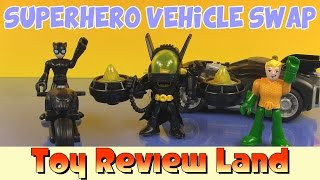 getlinkyoutube.com-Imaginext Catwoman, Batman and Aquaman in the Superhero Vehicle Swap!