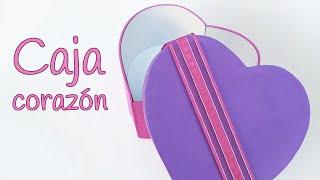 getlinkyoutube.com-Manualidades: CAJA corazón de goma eva - Innova Manualidades