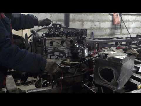402-й мотор на стенде