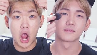 DOING MY FRIEND'S MAKEUP! - Edward Avila
