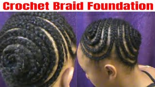 getlinkyoutube.com-Crochet braids foundation for ponytail or updo // jjackeeeeee