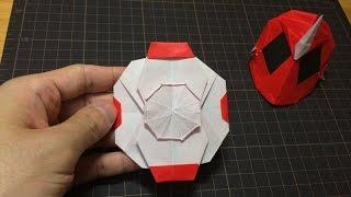 getlinkyoutube.com-おりがみ「ムサシゴーストアイコン」のつくりかた 仮面ライダーゴースト How to make Origami Hero Maskkamen rider ghost
